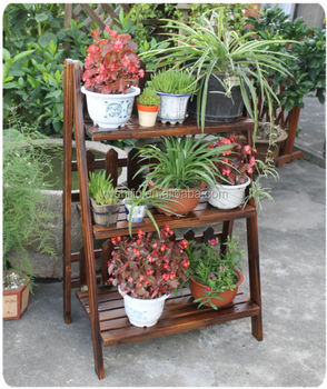 Alibaba & New Design 100% Handmake Folding Wooden Garden Flower Pot Stand - Buy Garden Wooden Flower Stand DesignsWooden Flower Pot StandsOutdoor Decorative ...