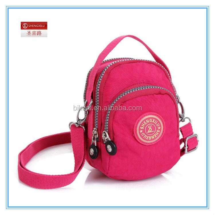Wholesale Fashion women nylon purse small mobile phone shoulder ...