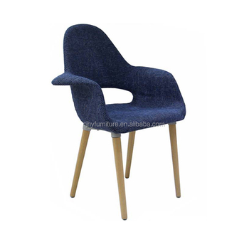 Best Fancy Design Furniture Navy Blue Fabric Cover Wooden Legs Living Room  Armchair Organic Arm Chairs For Living Room - Buy Organic Chair,Arm Chairs  ...