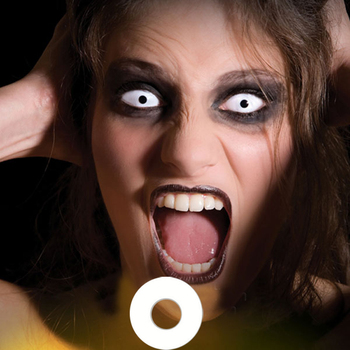 Meetone White Out Cosplay Zombie Naruto Crazy Contact Lens