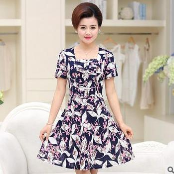 Korean Style Women New Print Casual Dress Wholesale Summer Fashion