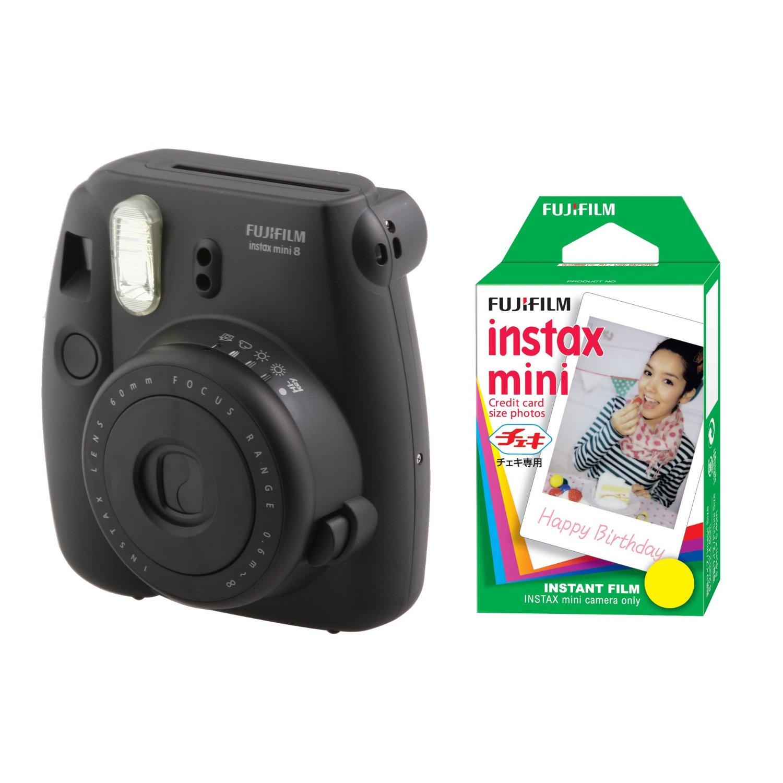 Fujifilm FU64-MIN8BKK20 INSTAX MINI 8 Camera and Film Kit with 20 Exposures (Black)
