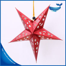 Christmas Hanging Decoration Red Laser Lamination Paper Star