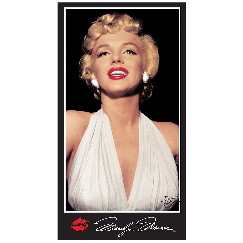 84886221e0655 Get Quotations · Marilyn Monroe White Dress Signature Beach Towel 30