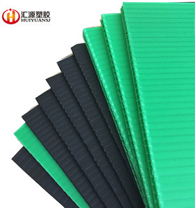 Colored polypropylene sheet for flooring