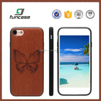 Custom wood partern solar powered cell phone case leather