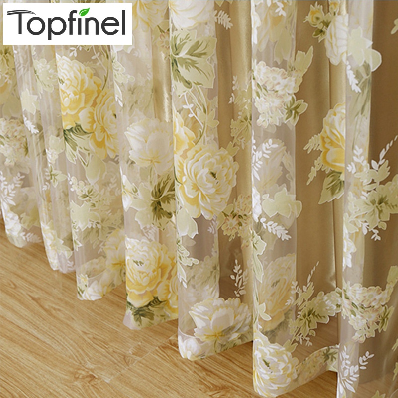 Kitchen Curtain Fabric: Aliexpress.com : Buy 2015 Hot Rose Modern Tulle For