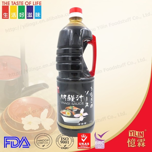 1L PET bottle packing for japanese restaurant use Unagi sauce of roasted eel with BRC certificate and hot sale to Europe country