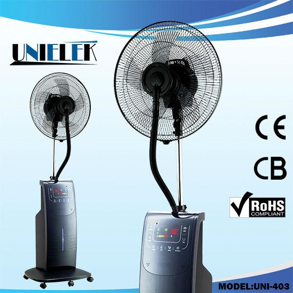 Spray Mist Fan : Low noise touch plastic water steam mist fan cooling