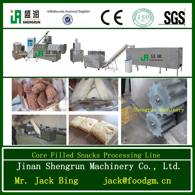 China professional Sandwich Rice Crackers Snack Production Machine Equipment Line