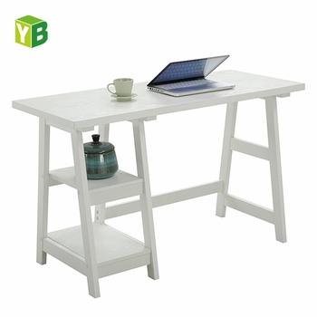 Houten Schragen Voor Bureau.Yibang Milieuvriendelijke Schraag Witte Verf Home Studio Centrum Wit