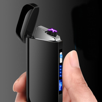 Ice matte dual arc tesla plasma usb charged lighter