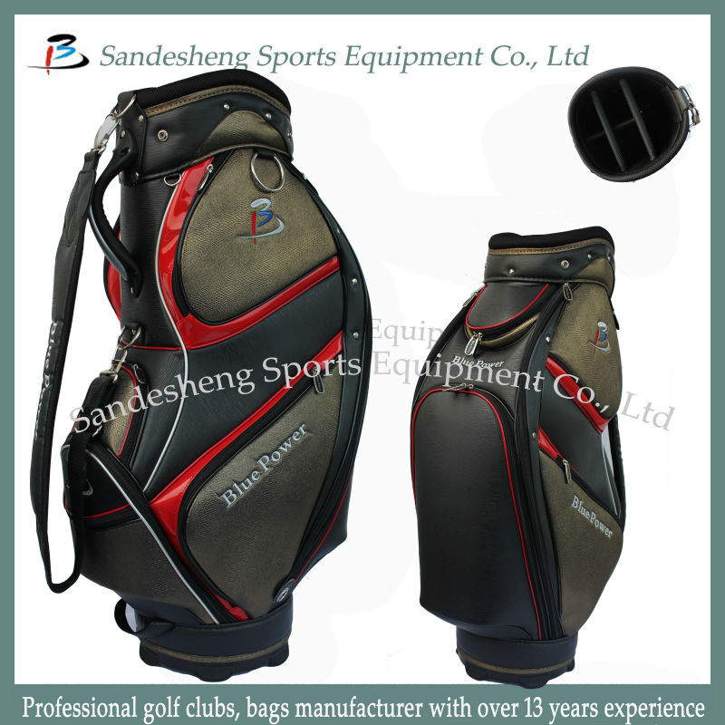 The Latest PU Leather Men Golf Bag