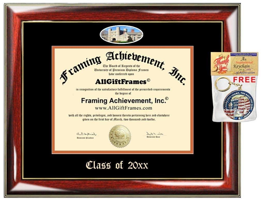 AllGiftFrames Custom Diploma Frame Embossed Princeton University College Best Graduation Princeton Degree Frame Double Campus Fisheye Picture Frame Cheap Graduate Gift