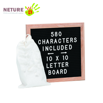 580 Letters And Characters Drawstring Canvas Pouch 10 X 10 Oak