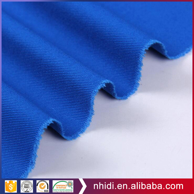 hebei oeko tex plain dyed twill chino cotton polyester fabric for casual jacket