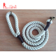 Custom Color 15mm Braided Cotton Rope Dog Leash With Quality Brass Hook