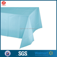 One time use only plastic home textile USA vinyl party table cover