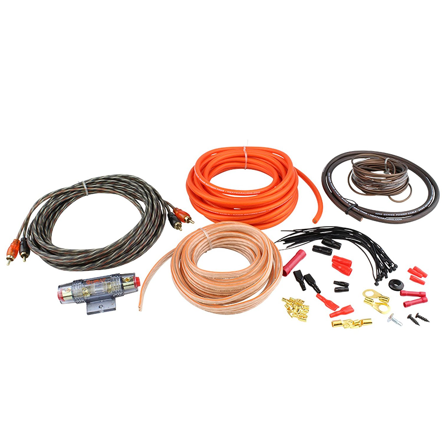 Buy 8 Gauge Car Amplifier Amp Power Installation 100 Ofc Wire Kit Wiring Kit8nrg