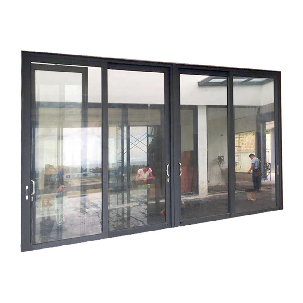 חום בידוד אלומיניום ממוסגר הזזה זכוכית דלת