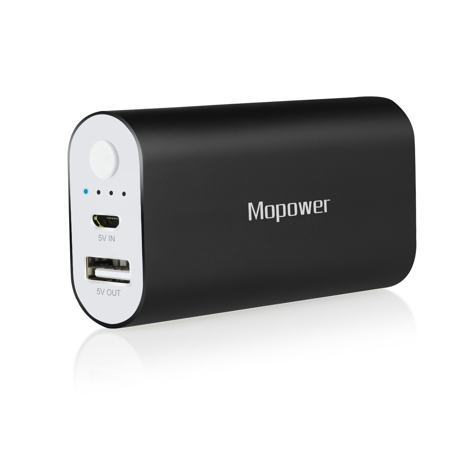 Portable Charger, Mopower 6000mAh Pocket-Sized Power Bank Aluminum Metal External Backup Battery Pack for iPhone 6 6S, 6S Plus, iPad ,Galaxy S6, Note 3, iPod,HTC,Sony,LG, Mobile Devices (Black)