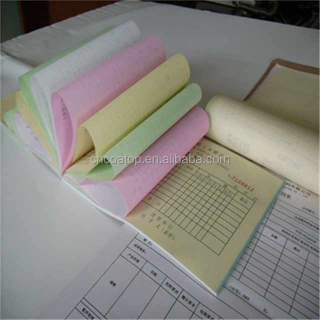 qingdao factory 100% wood pulp carbonless copy paper, NCR paper