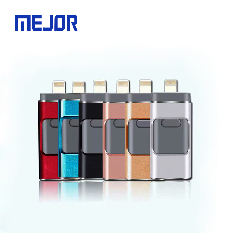 16/32/64/128/256 GB USB flash drive 2.0 memory stick IOS Micro android 3 in 1 memoria OTG Pendrive 32 GB