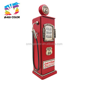 Wholesale best antique gas pump shape red wooden cabinet used for decoration W08C217