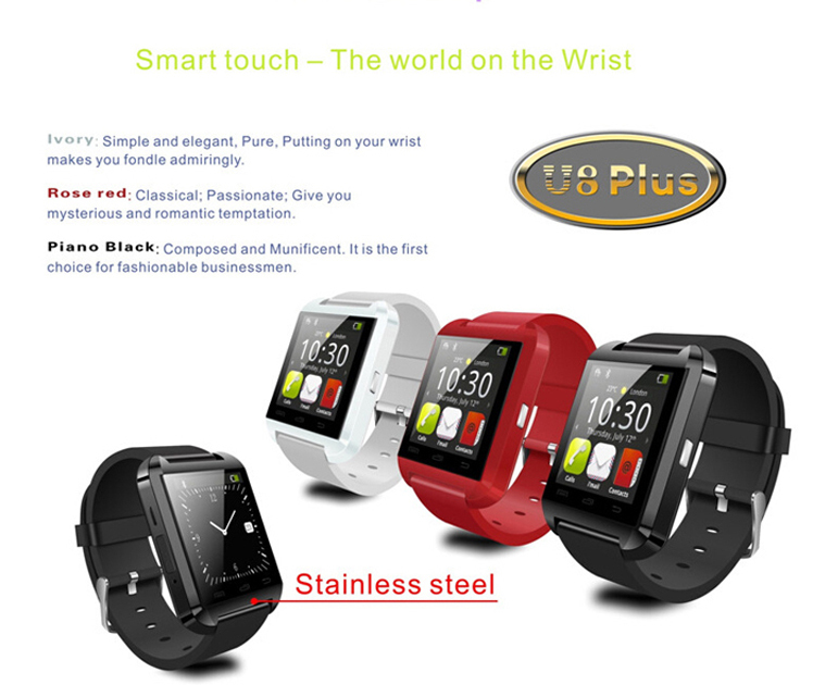 2016 Latest Colorful Smart U8 Watch with Phone Calls