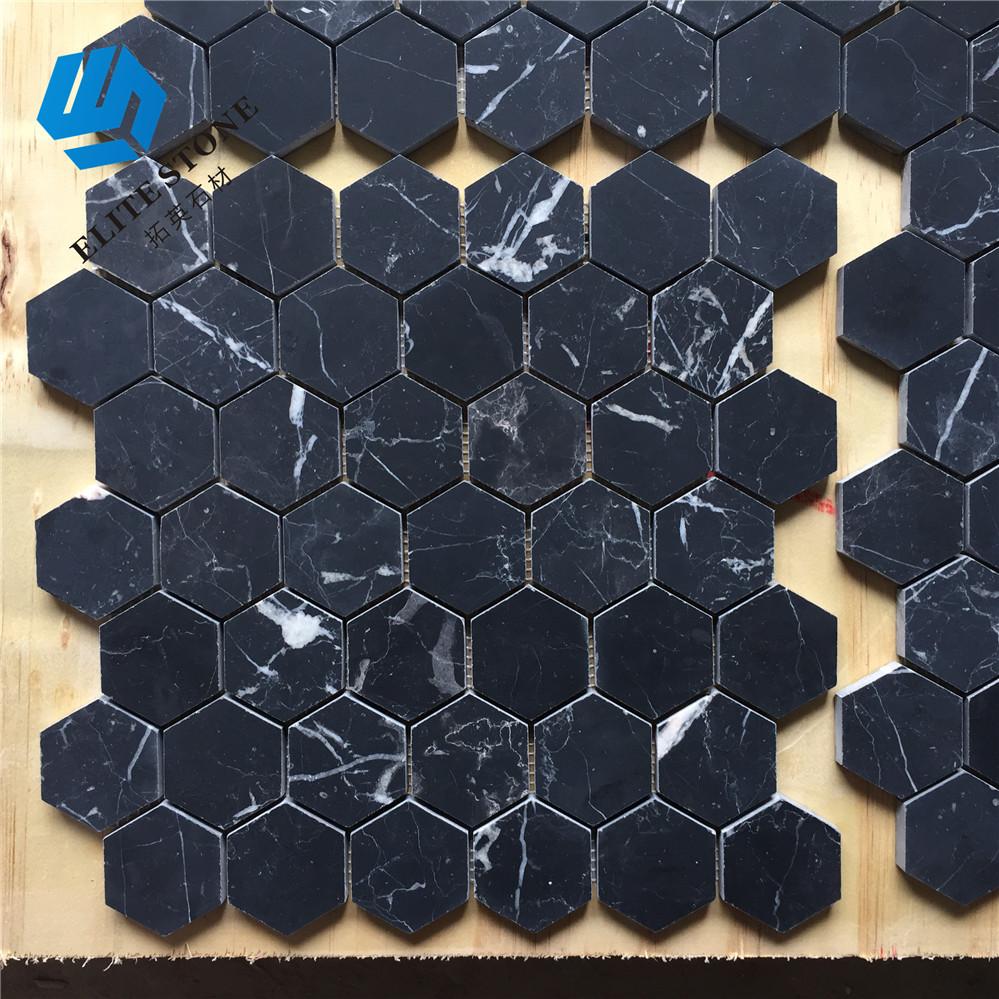 Home Decor 2 Inch Hexagon Bathroom