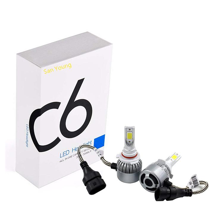 Высокое качество Хорошая цена светодиодный фар для авто C6 H1 H3 H4 H7 H8 H9 H10 H11 H13 HB3 HB4 9004 9007 Автомобильные светодиодные фары C6