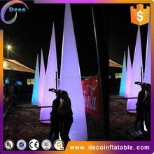 Outdoor Inflatable Advertising LED Tube Light Balloon / Wedding Decorative Inflatable LED ivorys
