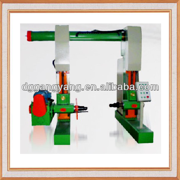 Portal type take up and pay off machine for wire and cable
