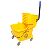 Home plastic 24L magic mop bucket with wheels