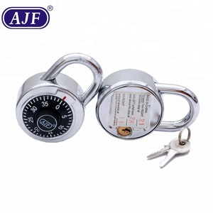 AJF high quality 50mm dial combination padlock with key