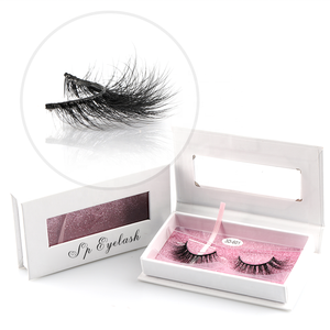 Soft new design mink fur eye lashes false eyelashes real mink 3D strip lashes
