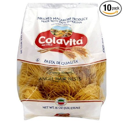 Colavita Capellini Nest(angel Hair Pasta), 16-ounce Boxes (Pack of 4)