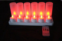 Rechargeable LED candles with 12pc candle , 12pc LED tealight candle with rechargeable