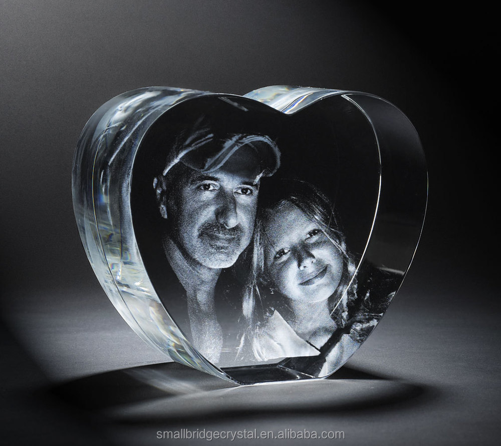 3d Laser Engraved Cube Shape Crystal Photo Frame Buy