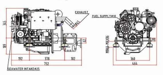 Trade Assurance Hf3m78 21hp Small Inboard Marine Diesel Engine 4 – Diagram Of Inboard Boat Engine