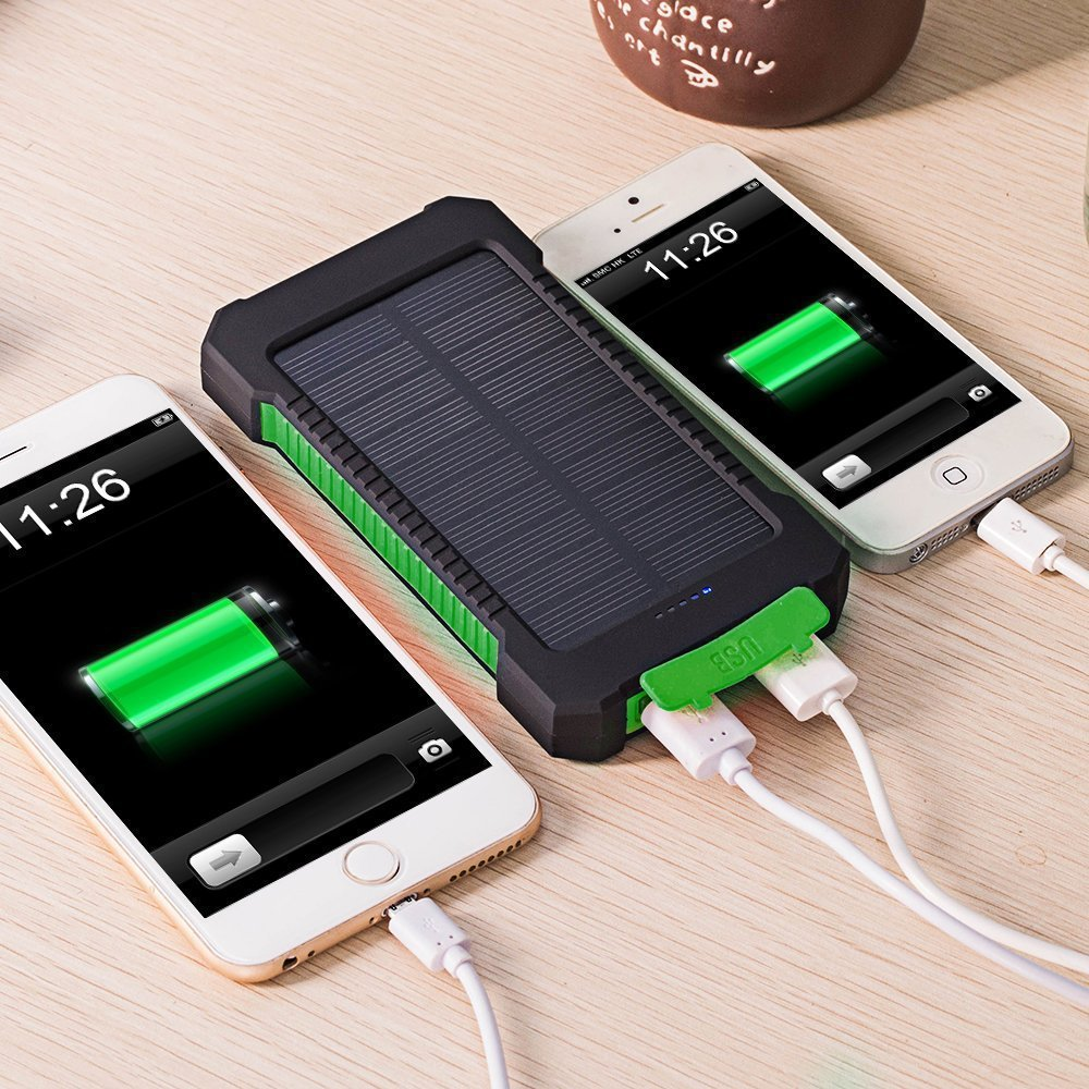 Waterproof luar solar charger ponsel portabel bank daya sel surya