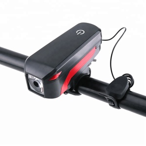 2019 New Product USB Bike light Rechargeable Front Handlebar Bicycle LED Light with Trumpet luz para bicicleta touch horn