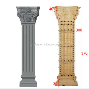 Cement Roman Square Pillar Design PVC Plastic Mold for Villa House Outdoor Exterior Decoration