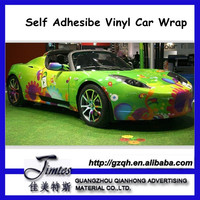 Self Adhesive Vinyl Sticker/PVC Car Body Wrap/Glossy/Matte/Permenant and Removable Glue