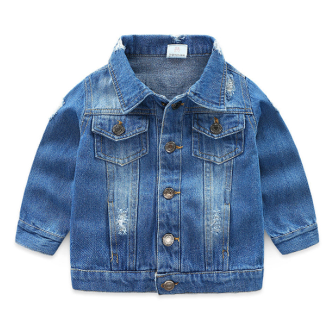 Hot sale girls washed jean coat kid jacket wholesale