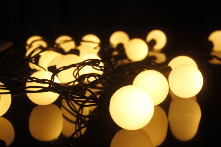Commercial rubber cable led string lights festoon belt lights christmas outdoor decoration