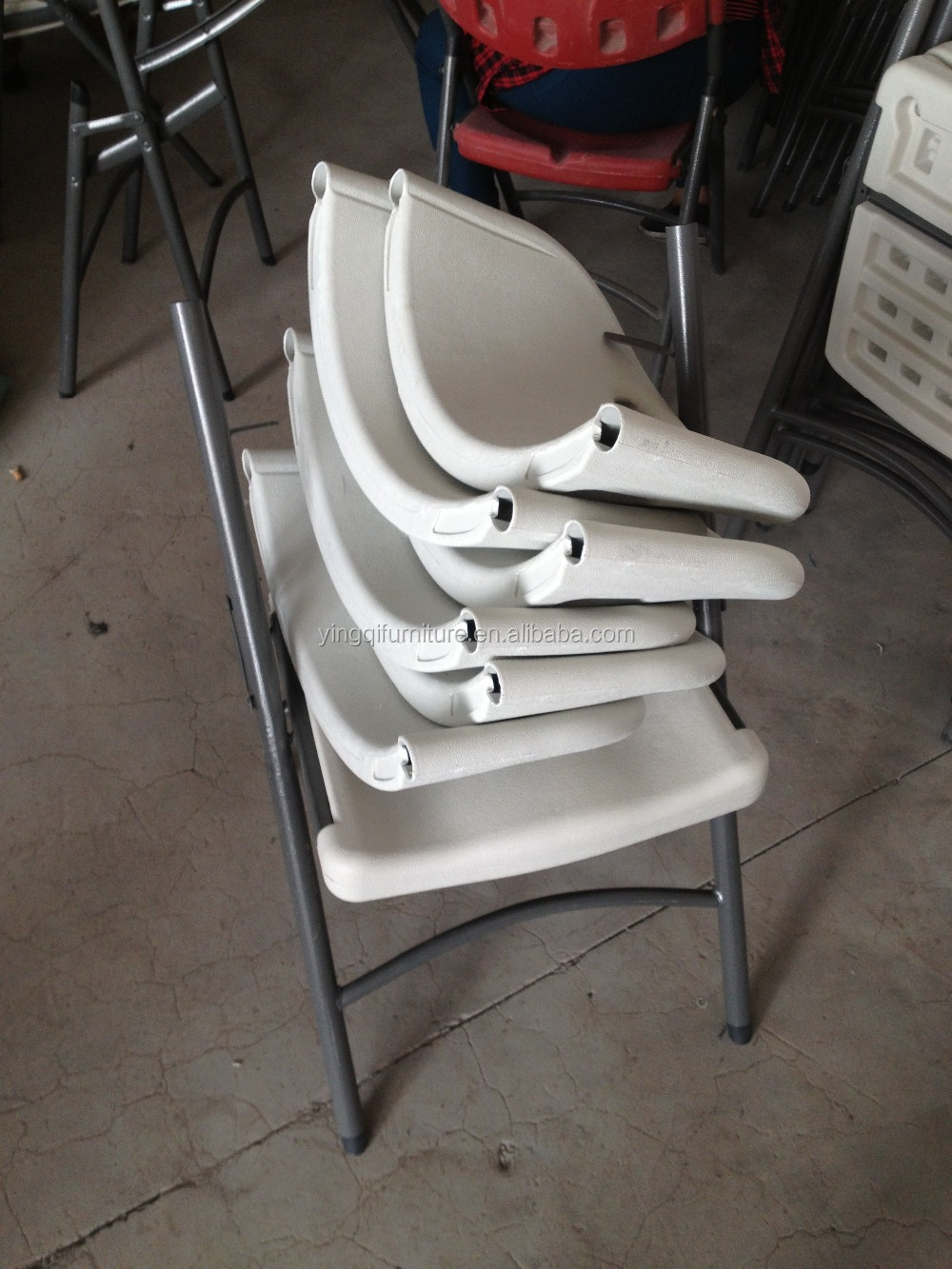 Wholesale Blow Molded Plastic Folding Chair For Outdoor