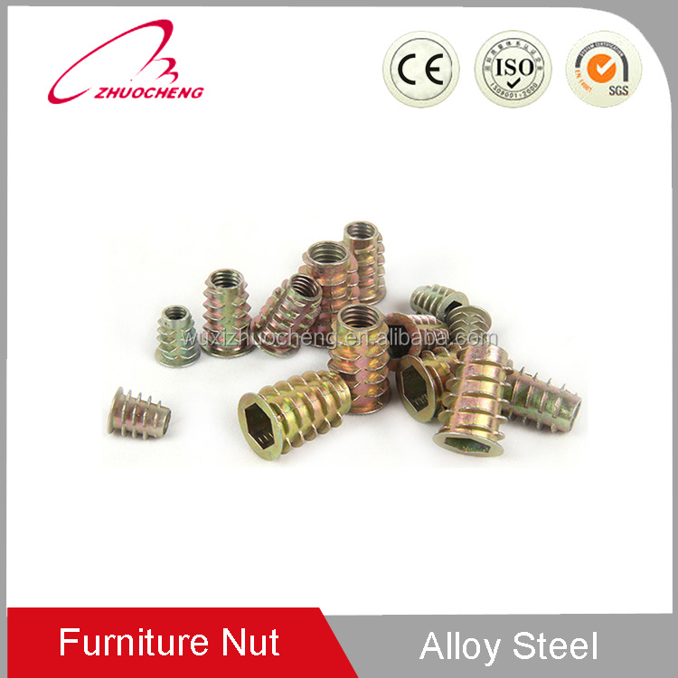 Customized insert nut self tapping threaded inserts double thread nuts