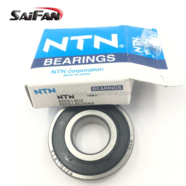 Steel Cage 40 mm OD 17 mm Bore ID Normal Clearance NTN Bearing 6203LB Single Row Deep Groove Radial Ball Bearing Single Seal Non-Contact 12 mm Width