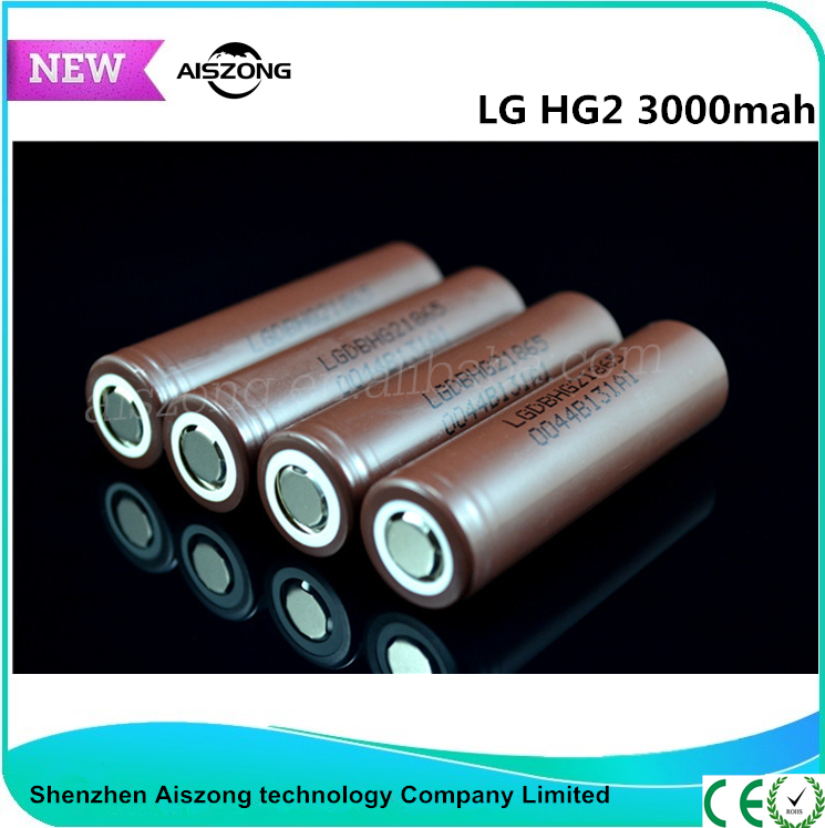 High quality original LG 18650 Battery 3000mah lithium ion cells rechargeable